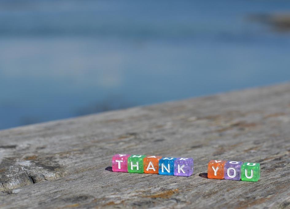 Bild mit Thank You als Bild für den Blogbeitrag